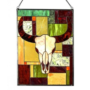 "34"" Tiffany Style Rustic Cattle Panel"