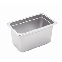 "Economy Anti-Jam 1/4 Size, 6"" D Steam Table Pan"