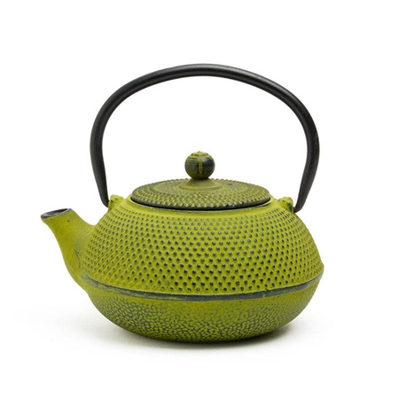 Green Hobnail Cast Iron Teapot - 20 Oz.