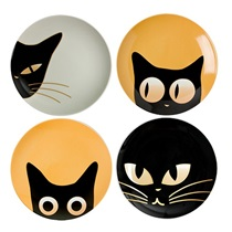 "Cat Eyes 6.5"" Dessert Plate Set"