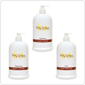 32oz Body Eclipse Spa Vanity Dispensers, Ceramic White