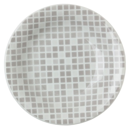 "GRID 6.5"" ROUND PLATE - GRAY"