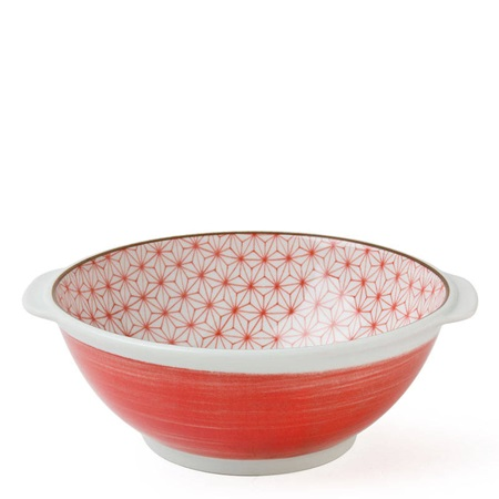 "ASANOHA 7.25"" SERVING BOWL - RED"