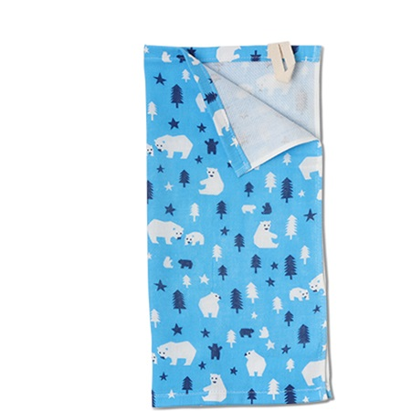 "Towel 13.75"" Sq. Polar Bear"