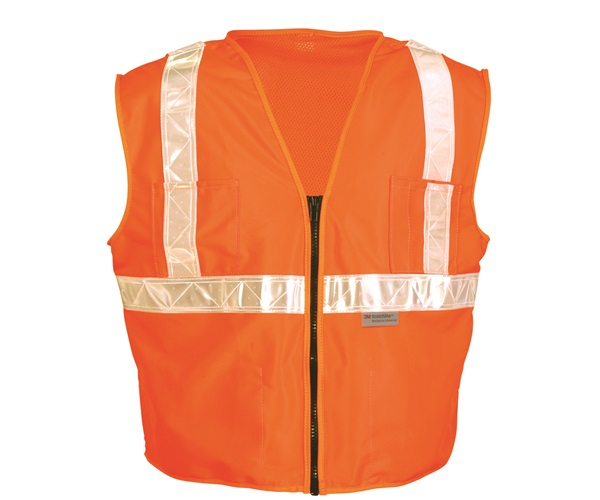 High Visibility Premium Mesh/Solid Gloss Safety Vests