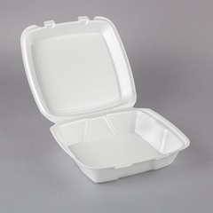 Container - Food Service - Hinged Styrofoam