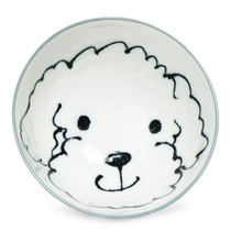 "Dog Days 4.5"" Rice Bowl - Poodle"