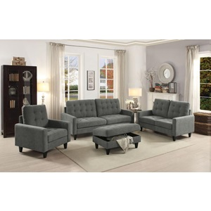 50241 GRAY FABRIC LOVESEAT