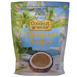 Coconut Organics Unrefined Coconut Sugar (16 oz)