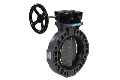 "3"" PVC Butterfly Valve with Nylon Disc and Viton Seals"