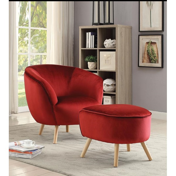 Brilliant Acme Furniture 59657 Red Accent Chair Ncnpc Chair Design For Home Ncnpcorg