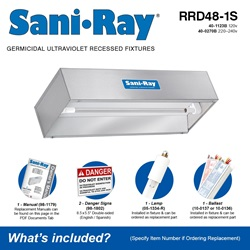 SaniRay RRD48-1S Included Accessories