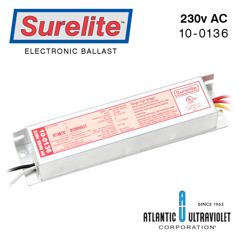 Surelite Ballast 10 0136 Buyultraviolet Electrical Wiring Diagram Eb Mt 65 2 56 0 Flexi 230v 50 60 Includes