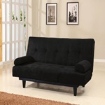 05855W-BK BLACK ADJUSTABLE SOFA
