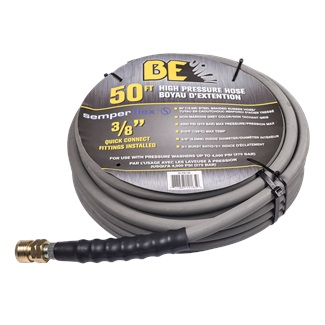"50ft 4000 PSI 3/8"" Non Marking Rubber Hose"