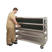 "New Age Industrial 59-3/4""W x 24""D x 52-11/16""H, 300 Tray Capacity Flex Tray Drying Rack"