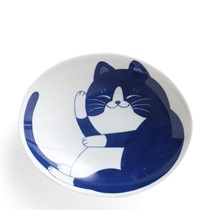 "Blue Cats 7.5"" Oval Bowl"