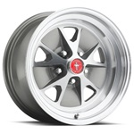 15 x 7 Styled Alloy Wheel, 5 on 4.5 BP, 4.25 BS, Charcoal / Machined