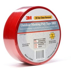 "5903 2"" X 60 YARD RED OUTDOOR POLY MASKING TAPE, 24 RLS/CS"