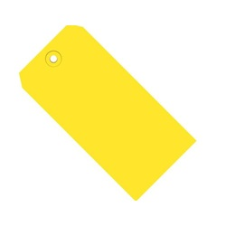 "4.75 X 2.375"" YELLOW SHIPPING TAG, #5, 13 PT, 1000/CS  G11051C"