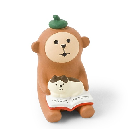 Figurine Monkey Book