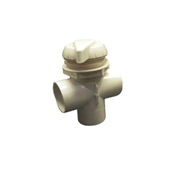 "DIVERTER VALVE: 2"" TOP MOUNT NOTCHED VERTICAL 2-PORT"