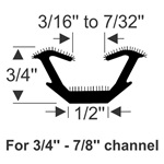 "1/2"" Flexible U-Channel"