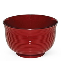 Red Lacquered Soup Bowl