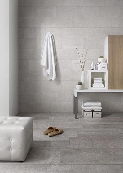 Tierra Sol Ceramic Tile Abitare Civitas - 8 x 16 white ceramic tile