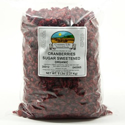 Cranberries, Sugar Sweetened - Organic