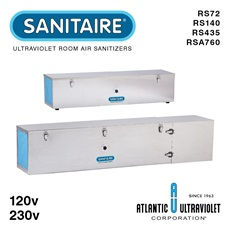 SANITAIRE® UV Room Air Sanitizers RS72 - RSA760 (Free Standing, Wall or Ceiling Mount)