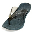 Zendals Resort Thong Spa Sandal, Black-Small