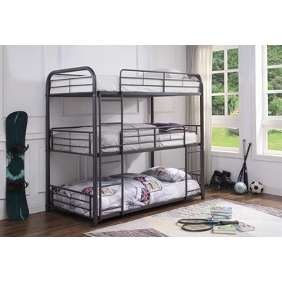 38090 CAIRO, GUNMETAL BUNK BED
