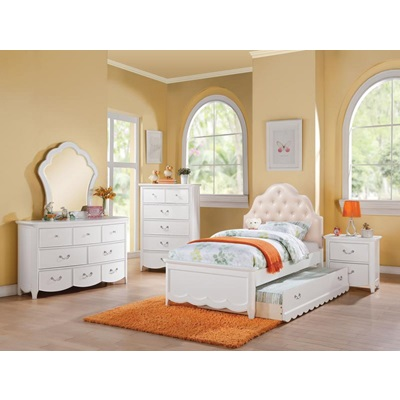 30300T CECILIE PU TWIN BED