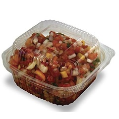 PLA-KD12 12OZ CLEAR HINGED DELI CONTAINER, JAYA