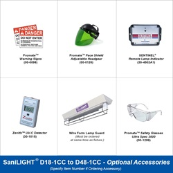 SaniLIGHT D18-1CC to D48-1CC Optional Accessories