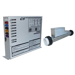 CONTROL: C5-R 240V WITH 4.0KW REMOTE HEATER, TOPSIDE AND CORDS