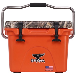 Realtree Max 5 Camo Lid Blaze Orange 20 Quart