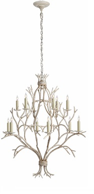 Branch Open Frame Chandelier in Old White