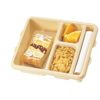 Cambro 9113CW414 Camwear Meal Delivery Tray 3-Compartment