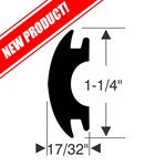 "1-1/4"" x 17/32"" Rub Rail Insert Repair Kit"