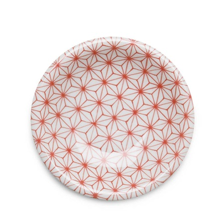 "Asanoha Colors 4.75"" Dish - Red"