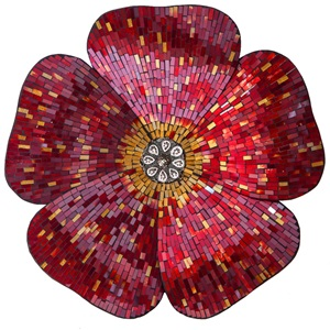 "22"" Mosaic Glass Flower"