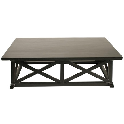Sutton Coffee Table, Hand Rubbed Black