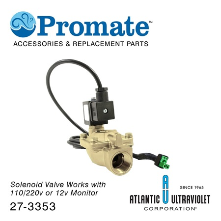 "Solenoid: 3/4"" 12v 2-230 PSA Brass / Lead Free / NSF for Digital"