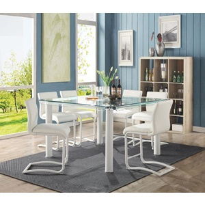 70252 WHITE COUNTER HEIGHT CHAIR