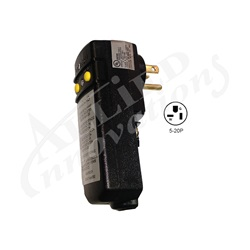 GFCI: 20AMPS 110V 90° PLUG WITHOUT CORD