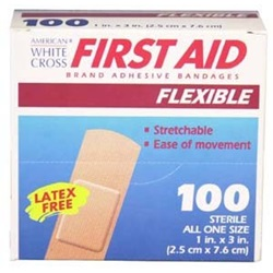 "Adhesive Bandages - Fabric 1"" x 3"""