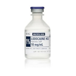 Lidocaine Injectable 1%, 10mL
