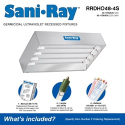 Sani•Ray RRDHO48-4S Included Accessories